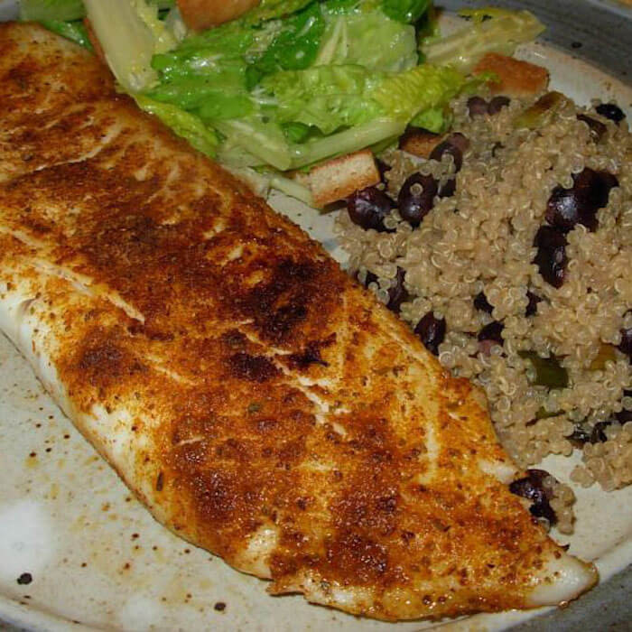 Cajun Talapia is a tasty way to eat the mild whitefish.