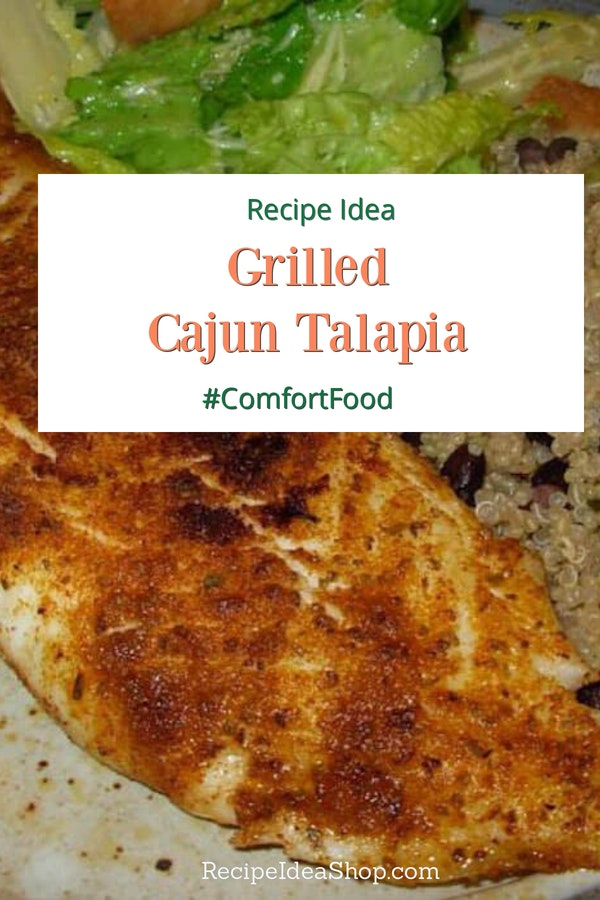 "Cajun Talapia, the ""fried fish"" that isn't fried. Spicy but not ""hot."" #cajuntalapia #fish #glutenfree #recipes #comfortfood #recipeideashop"