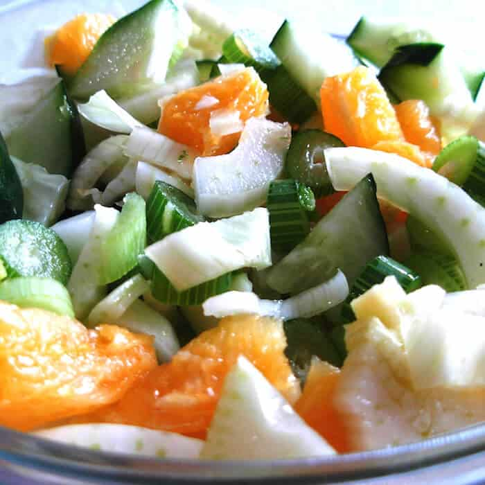 Fennel Orange Cucumber Salad. Refreshing!