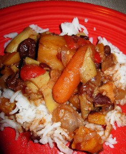 Slow Cooker Spicy Vegetarian Stew