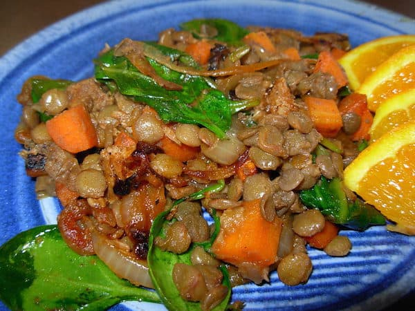Turkish Lentils with Lamb and Carrots. Spicy. Savory. Scrumptious.
