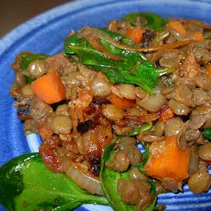 Turkish Lentils with Lamb and Carrots. Yum!