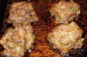 Minty Greek Meatballs