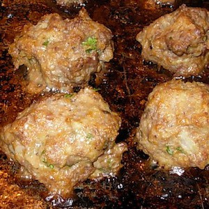 Minty Greet Meatballs