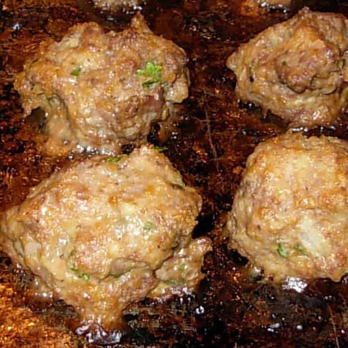 Minty Greek Meatballs are a refreshing change. You will love these kabobs.