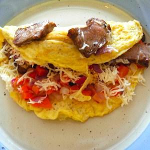 Steak and Eggs Omelet