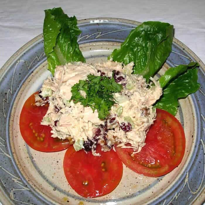 Basic Chicken Salad with Dried Cranberries
