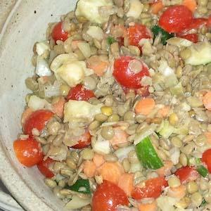Vegan Lentil Fennel Salad