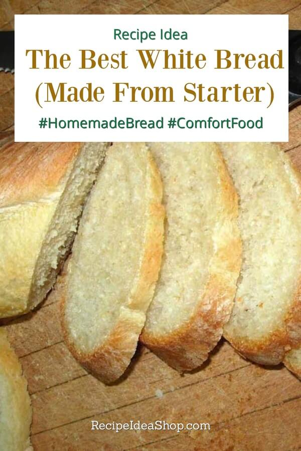 The Best White Bread from a Sponge recipe. Easy. Amazing. #homemadebread #whitebreadrecipe #breadrecipe #comfortfood #recipes #recipeideashop #youcandoit