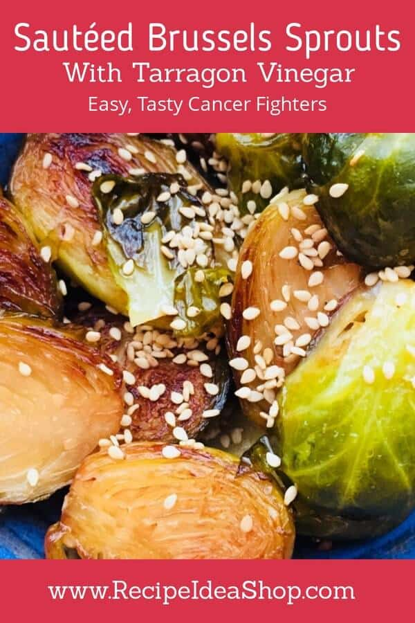 This Sautéed Brussels Sprouts Recipe is nothing like what Mom used to make! Full of favor. Not bitter. Terrific. 35 minutes until perfection. #sauteedbrusselssproutsrecipe, #sauteedbrusselsprouts, #recipeideashop