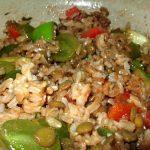 Lentil, Rice and Fruit Salad, originally a Moosewood recipe, is super good.