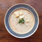 Leek Potato Sausage Soup is a dairy free, creamy soup.