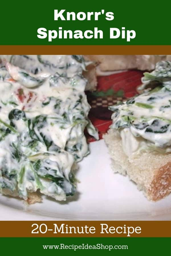 Tasty, Easy, 20-min Spinach Dip. #knorrsspinachdip; #knorrspinachdip, #spinachdip; #recipes; #recipeideashop