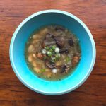 Roasted Mushroom and White Bean Soup is simple and super good.
