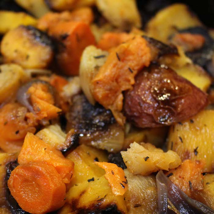 Smoky Maple Root Veggies make a terrific main dish.
