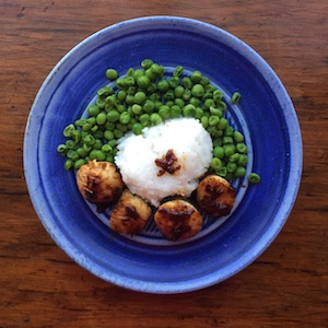 Scallops with Ginger Lime Marinade Sauce