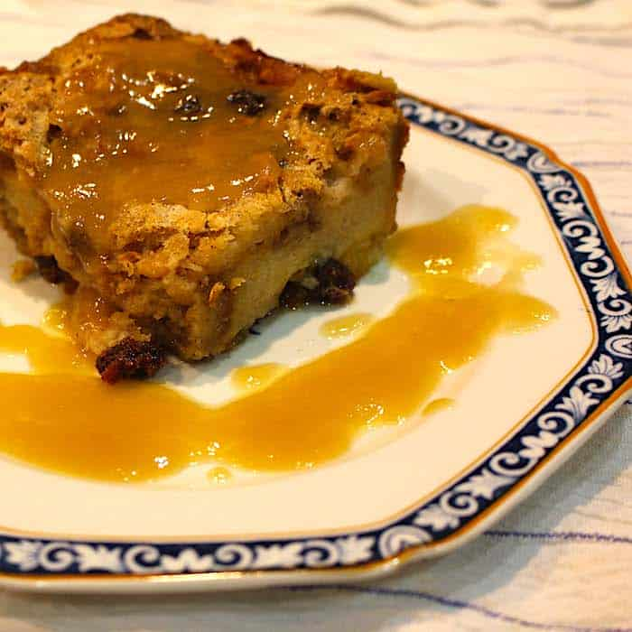 Bread Pudding with Bourbon Sauce. I have never had such terrific Bread Pudding.