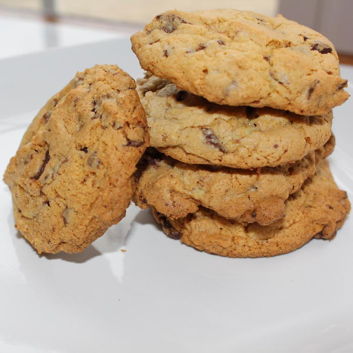 These Mint Chocolate Chip Cookies (Gluten Free) are so delicious. Tell everyone they are GF and you can eat them all yourself!