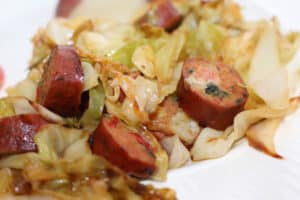 Chicken Sausage and Cabbage Stir Fry