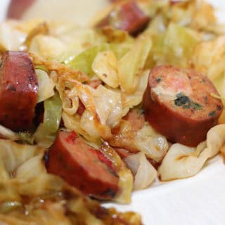 Chicken Sausage and Cabbage Stir Fry