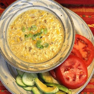 Roasted Corn Chowder (Vegan)