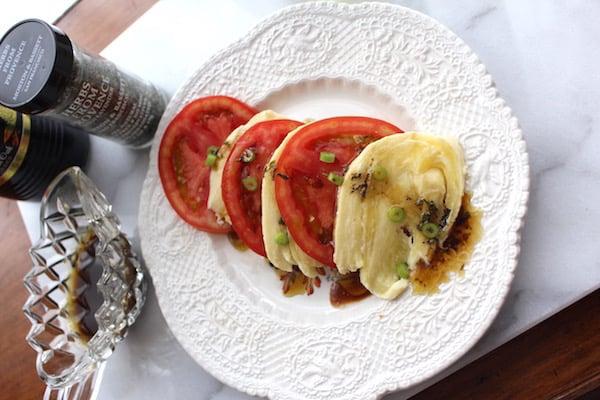 Make your own vinaigrette for this Caprese Salad.