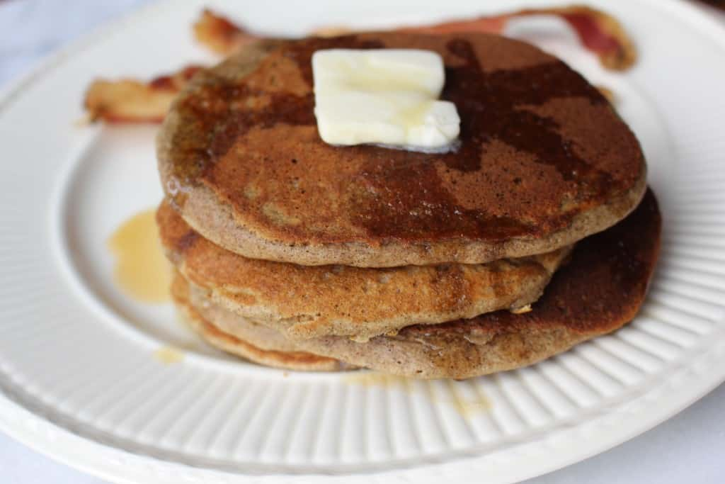 Naturally Gluten Free Buckwheat Pancakes. Yum!