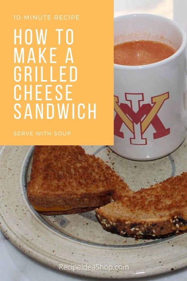 You can make a grilled cheese many ways. You can even make it with an iron. #traditionalgrilledcheese #grilledcheesesandwich #howto #recipes #comfortfood #recipeideashop