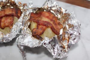 Baked Bacon Onions. Sweet. Full of flavor. Great summer side dish