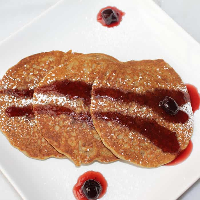 Gluten Free Buckwheat Pancakes. Good for you. Low in calories. Naturally gluten-free.