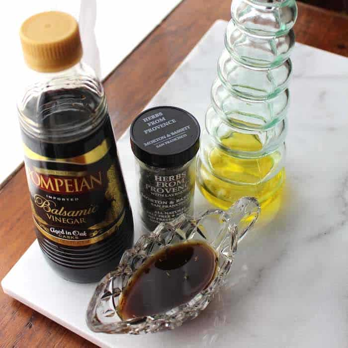 Simple Balsamic Vinaigrette. Three ingredients.