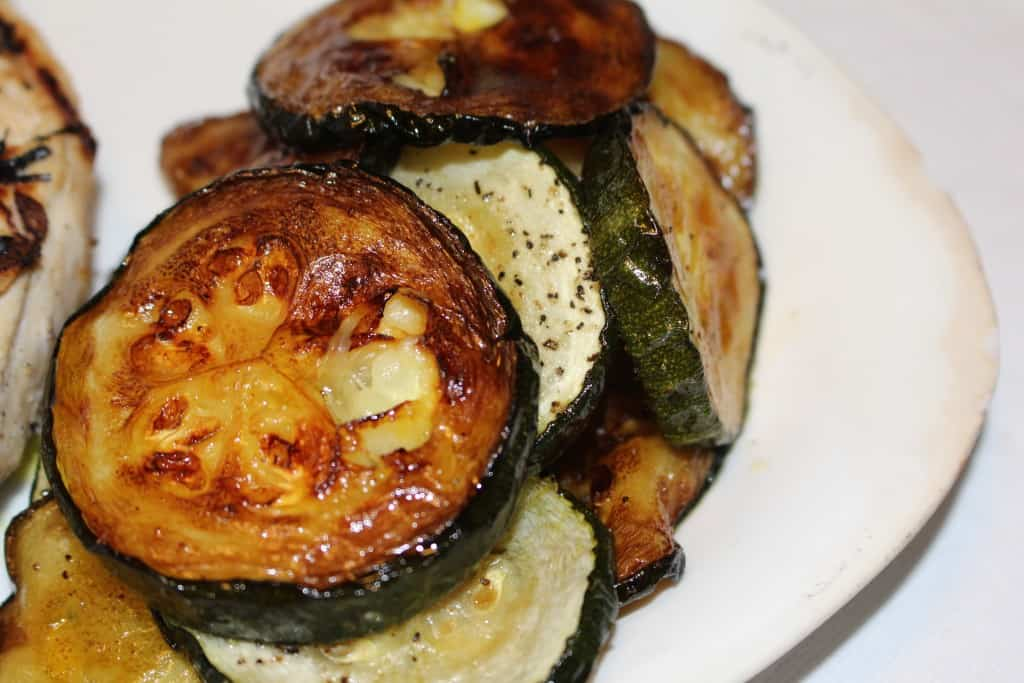 Grilled Zucchini Squash. Very easy, especially when the husband does the grilling.