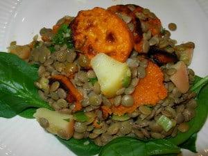 Lentil Sweet Potato Salad
