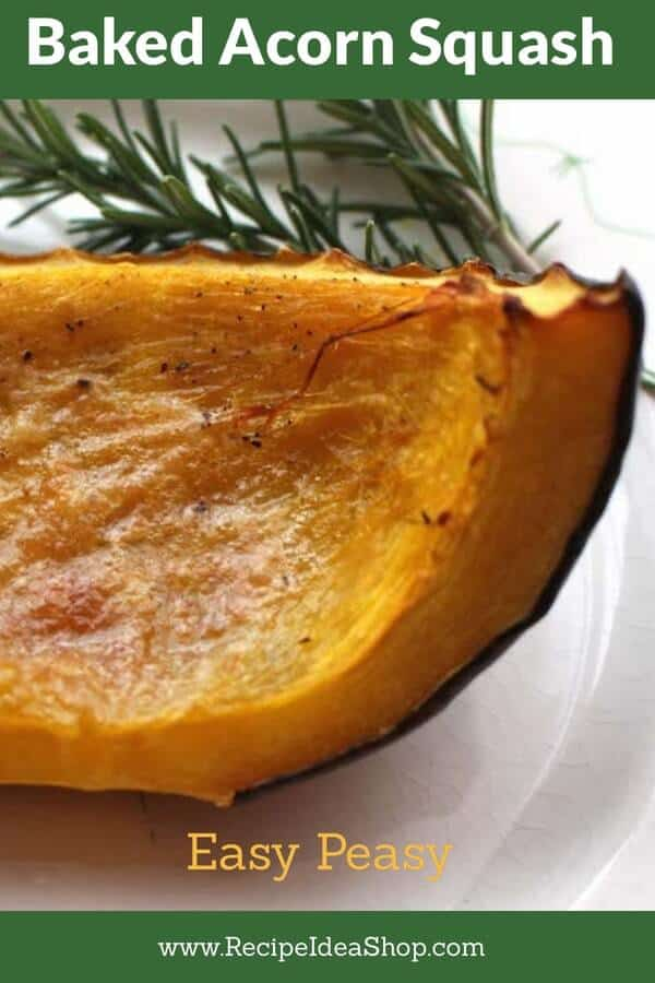 Baked Acorn Squash. Salty or sweet? You choose. #acornsquash #bakedacornsquash #squashrecipes #fallrecipes #glutenfree #recipes #recipeideashop
