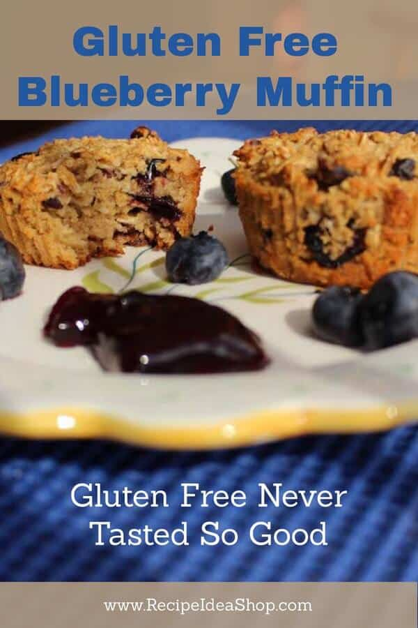 Gluten Free Blueberry Muffin Recipe. So delicious and filling. #glutenfreeblueberrymuffin; #glutenfree; #glutenfreerecipes; #blueberryrecipes; #muffins; #recipeideashop