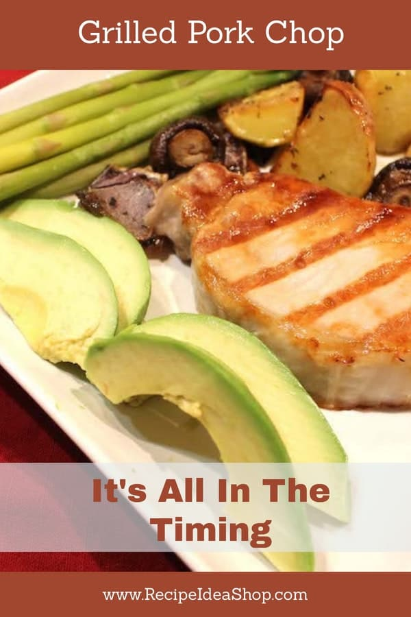 How to cook a Grilled Pork Chop, indoors or outdoors. Yum! #grilledporkchoprecipe; #howtogrill; #porkchoprecipe; #porkrecipes; #recipes; #recipeideashop