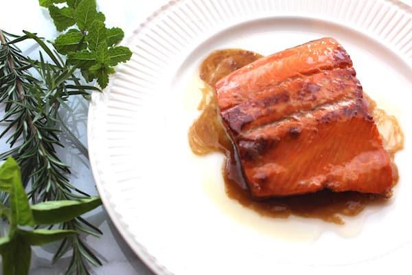 Sweet Bourbon Salmon. Bursting with flavor. Not too sweet.