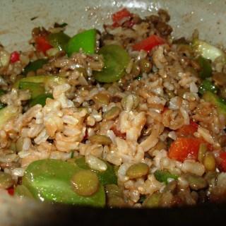 Lentil, Rice and Fruit Salad