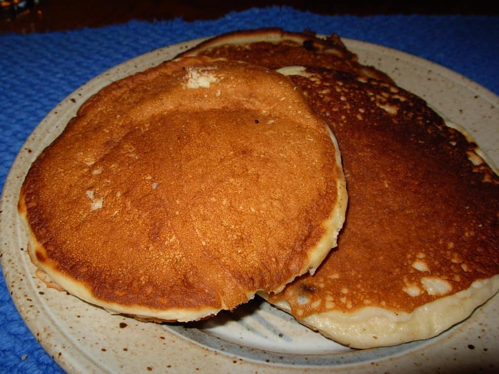 James Beard's Pancakes. Light, fluffy, heavenly.