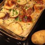 Scalloped Potatoes with Thyme are so good.