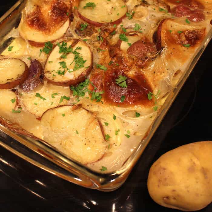 Scalloped Potatoes with Thyme.