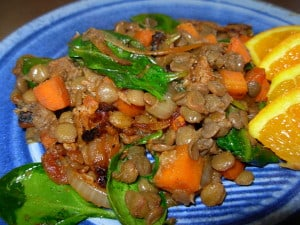 Turkish Lentils with Lamb and Carrots