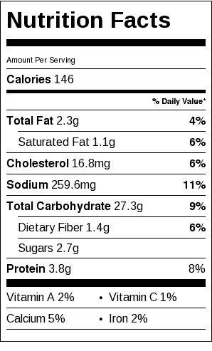 Gluten Free Buns Nutrition Label. Each serving is about the size of a regular hot dog bun.