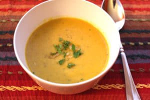 Gingery Buttercup Squash Soup. Vegan and gluten free but CREAMY.