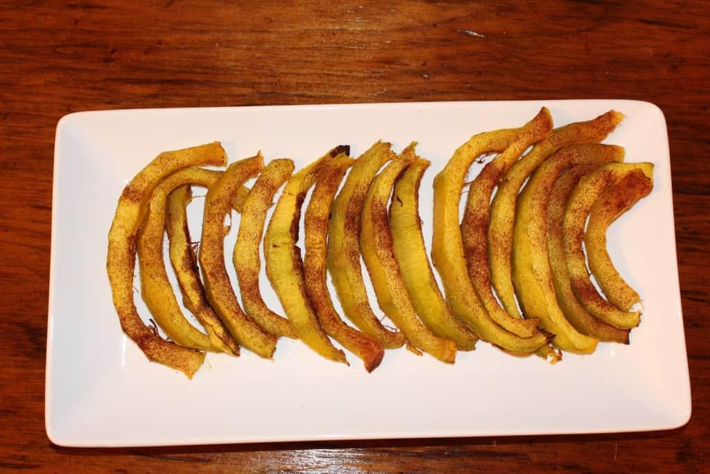 Cinnamon Sugar Roasted Pumpkin Slices. A tasty treat.