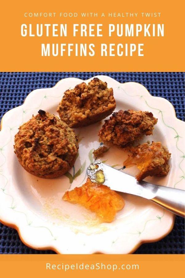 Grab & Go GF Pumpkin Muffins. Yum! #glutenfreepumpkinmuffin #glutenfree #pumpkin #muffins #recipes #comfortfood #breakfast #recipeideashop