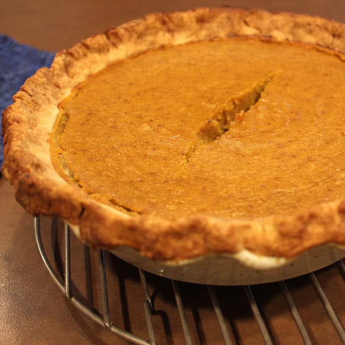 Roasted Pumpkin Pie with Gluten Free Pie Crust for Sweet Pies.