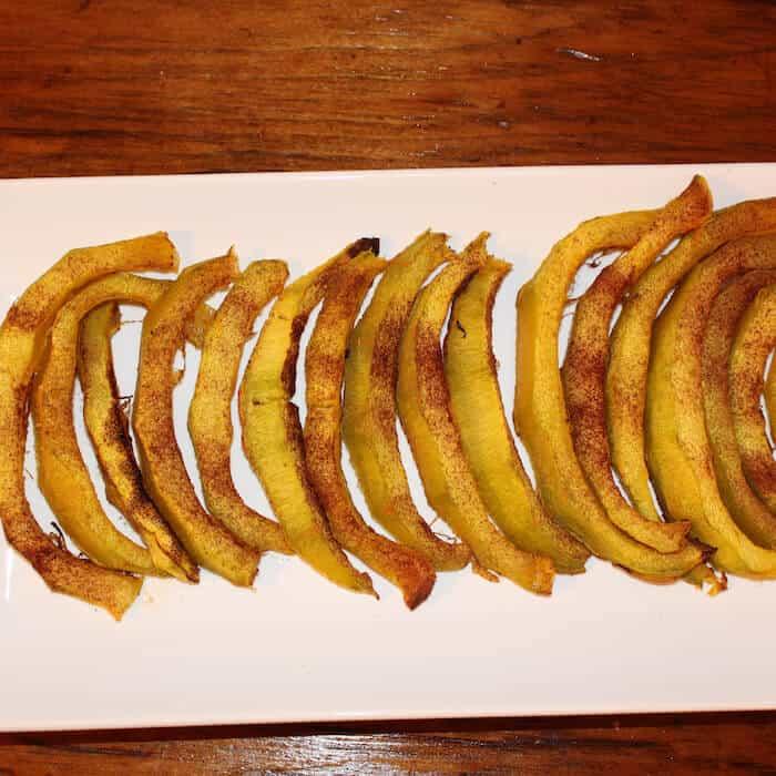 Cinnamon Sugar Roasted Pumpkin Slices