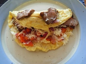 Steak and Eggs Omelet
