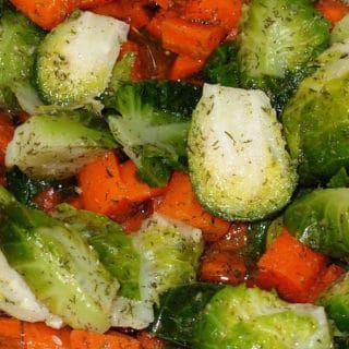 Brussels Sprouts and Carrots in Vinaigrette. Even people who don't like Brussels Sprouts like this one.